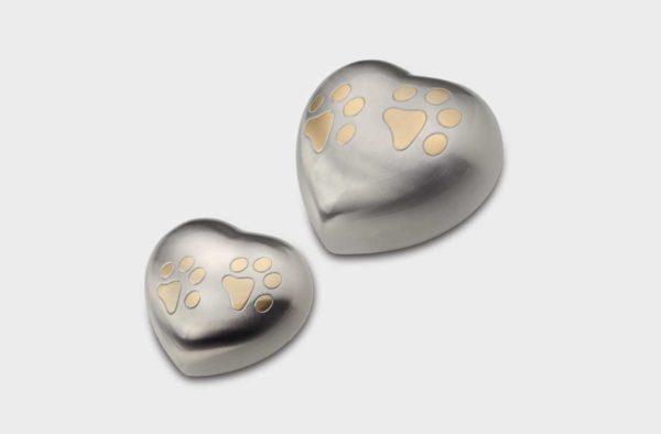 Urna corazón plata